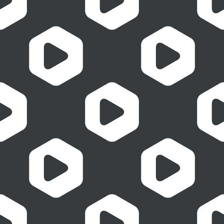 repeated: Image of play button in hexagon, repeated on black