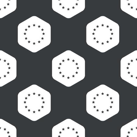 eu: Image of EU emblem in hexagon, repeated on black