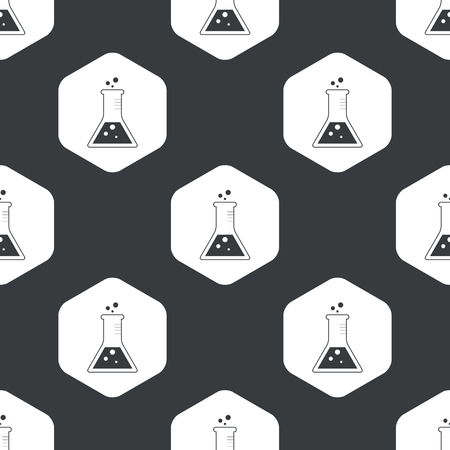 conical: Image of conical flask in hexagon, repeated on black