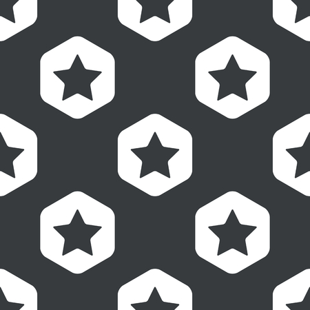 ideogram: Image of star in hexagon, repeated on black