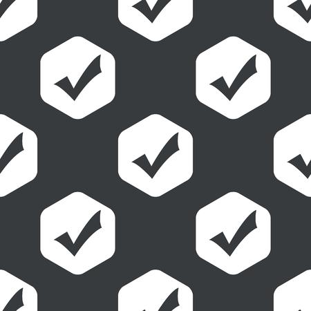 tick mark: Imagen de marca de la se�al en el hex�gono, repetido en negro