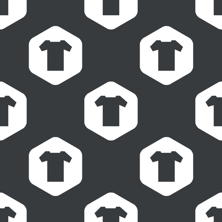 repeated: Image of T-shirt in hexagon, repeated on black
