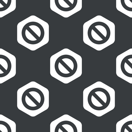 no image: Image of NO sign in hexagon, repeated on black Illustration