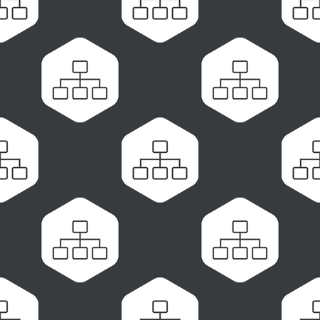 repeated: Image of scheme in hexagon, repeated on black Illustration