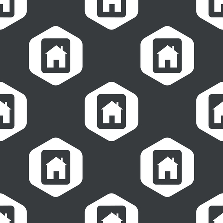 housetop: Image of tablet with house in hexagon, repeated on black