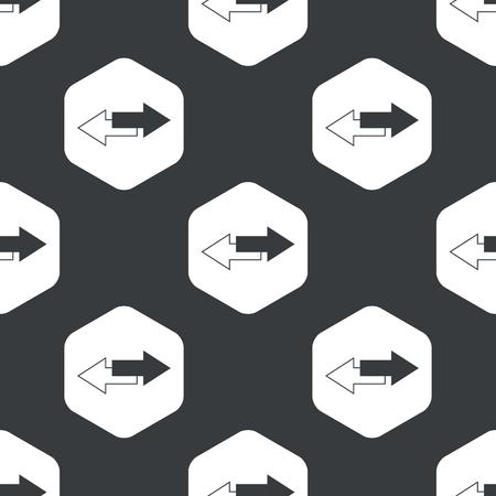oppos: Image de fl�ches oppos�es droites dans l'hexagone, r�p�t�e sur le noir