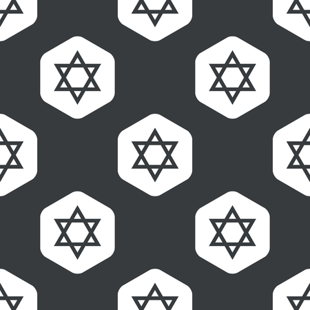 repeated: Image of Star of David in hexagon, repeated on black