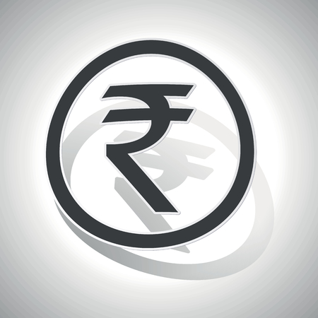 Curved Circle With Image Of Indian Rupee Symbol And Shadow On