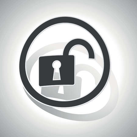 unlocked: Unlocked sign sticker, curved, with outlining and shadow Illustration