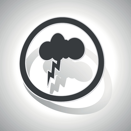 thunderbolt: Thunderbolt sign sticker, curved, with outlining and shadow Illustration