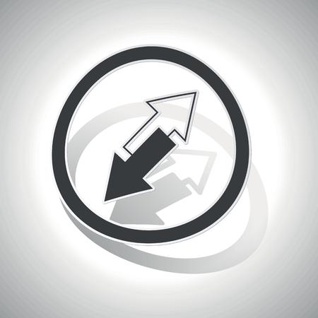 flechas curvas: Flechas opuestas sticker, curvado, con esquematizaci�n y la sombra