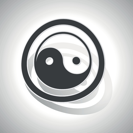 dao: Ying yang sign sticker, curved, with outlining and shadow