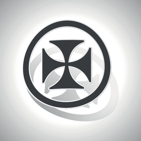 germanic: Maltese cross sign sticker, curved, with outlining and shadow Illustration
