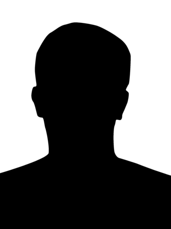 profile picture: Profile picture silhouette, man head, black, on white background
