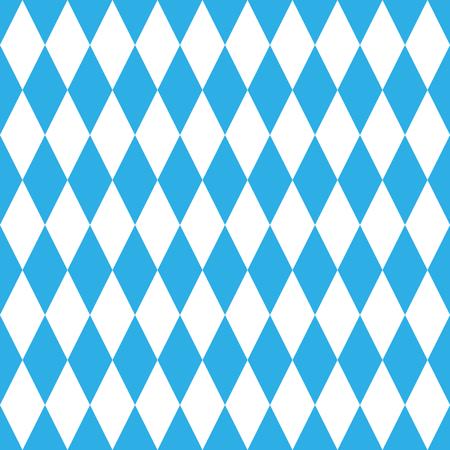 Oktoberfest blue pattern, geometrical, seamless, blue and white Ilustração