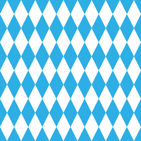 Oktoberfest blue pattern, geometrical, seamless, blue and white Illustration