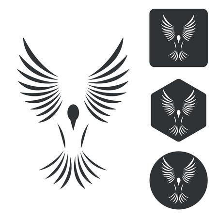 freedom icon: Freedom icon set, monochrome, isolated on white Illustration
