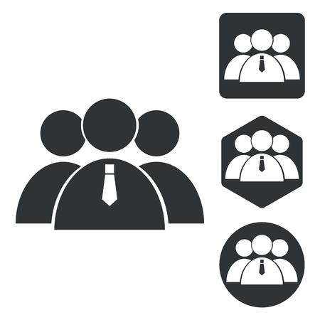 group icon: User group icon set, monochrome, isolated on white