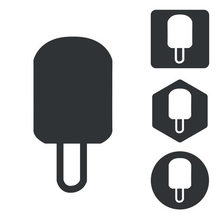 eskimo: Eskimo icon set, monochrome, isolated on white