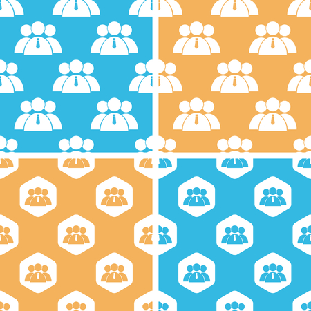 group pattern: User group pattern set, simple and hexagon, on yellow or blue background