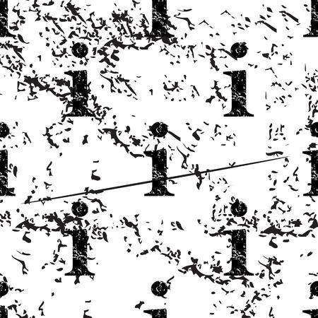 Information pattern grunge, black image on white background