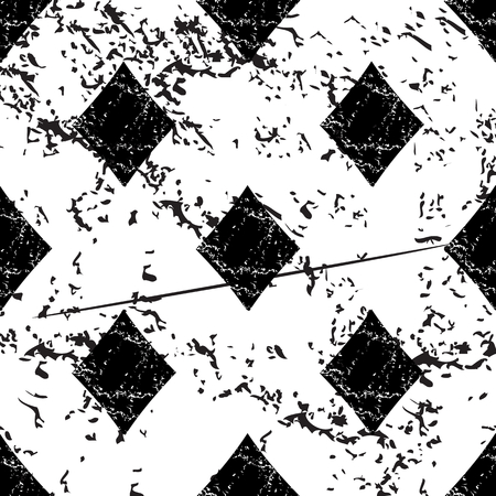 diamonds pattern: Diamonds pattern grunge, black image on white background