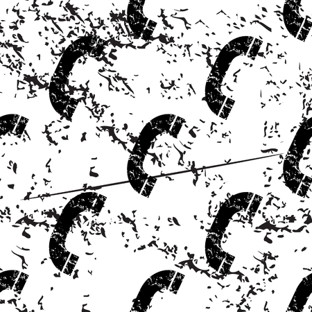 phone receiver: Phone receiver pattern grunge, black image on white background