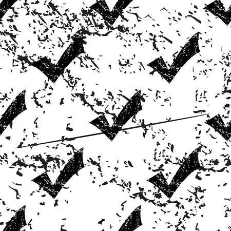 pattern grunge: Tick mark pattern, grunge, black image on white background