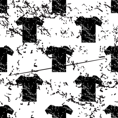 pattern grunge: T-shirt pattern, grunge, black image on white background Illustration