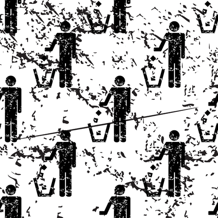 keep clean: Keep clean pattern, grunge, black image on white background