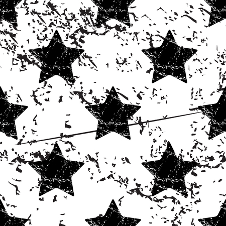 star pattern: Star pattern, grunge, black image on white background