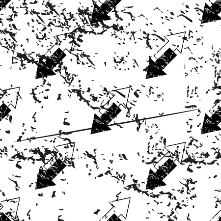 oppos: Opposite arrows pattern, grunge, black image on white background Illustration
