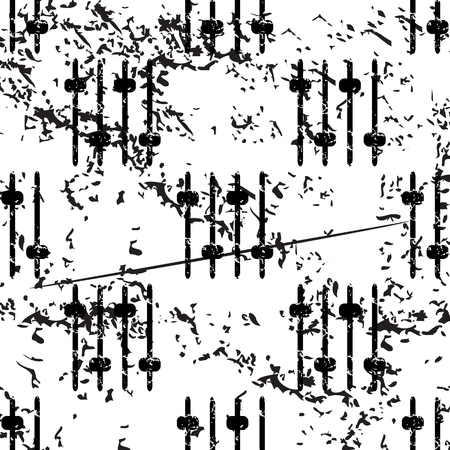 fader: Faders pattern, grunge, black image on white background Illustration