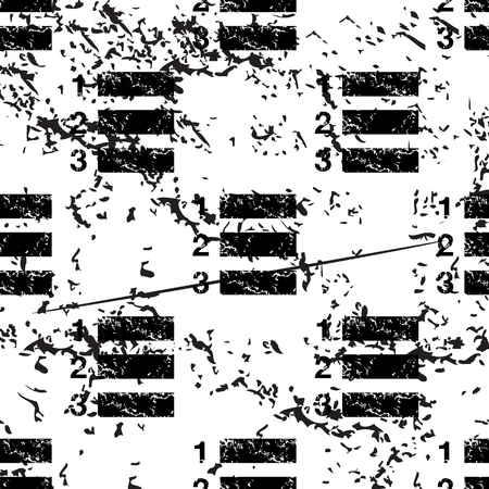 enumerated: Numbered list pattern, grunge, black image on white background Illustration