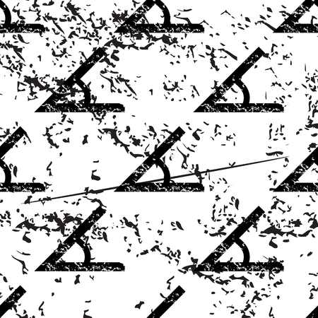 endpoint: Angle pattern, grunge, black image on white background