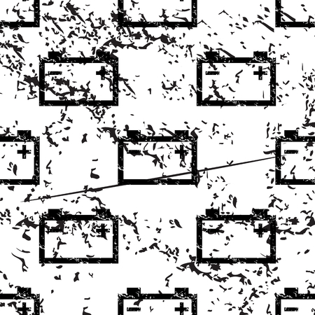 accumulator: Accumulator pattern, grunge, black image on white background