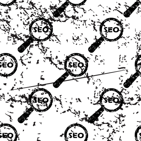 nuance: SEO search pattern, grunge, black image on white background