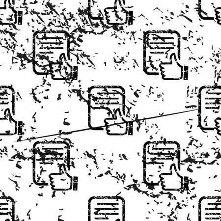repeats: Good document pattern, grunge, black image on white background