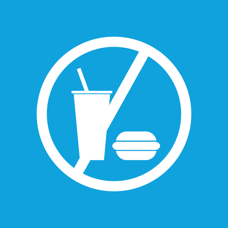 no image: No food icon, simple white image isolated on blue background