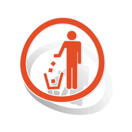 keep clean: Keep clean sign sticker, orange circle with image inside, on white background Illustration