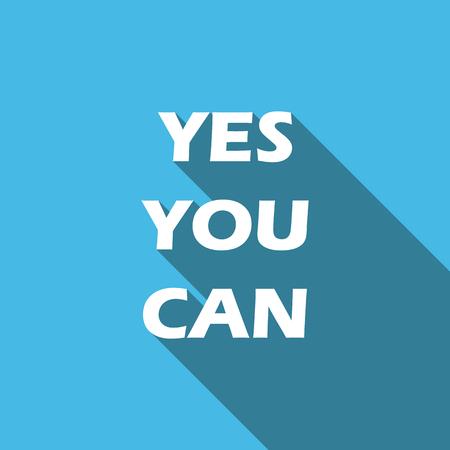 tu puedes: Sí tu puedes. Inspirado de la cita, lema, el decir. Concepto de éxito