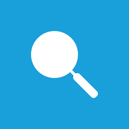 browning: Pan icon, white simple image isolated on blue background