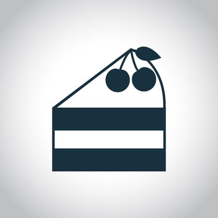 cake slice: Cake slice symbol. Black flat icon isolated on a white background