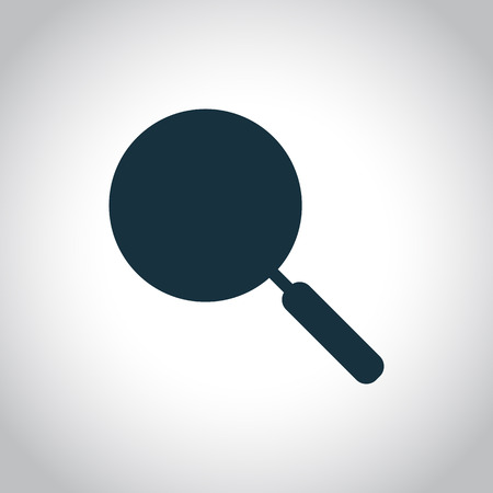 main course: Frying pan silhouette icon  isolated on a white background