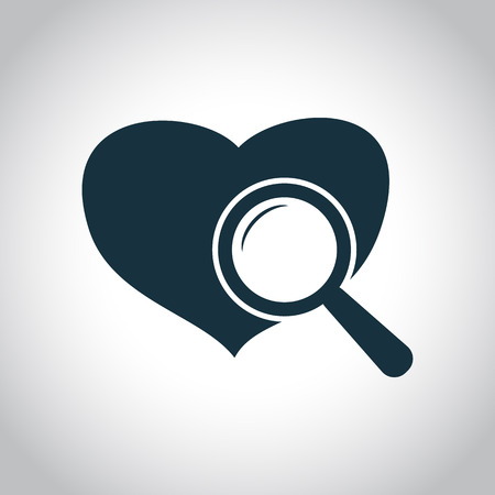 cardiological: Heart checkup icon. Black flat symbol isolated on a white background