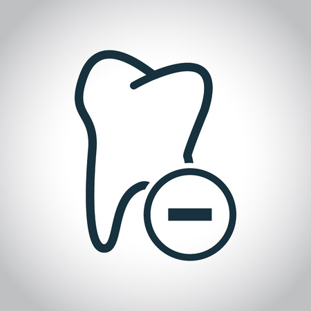 tooth extraction: Tooth extraction icon. Black flat icon isolated on a white background