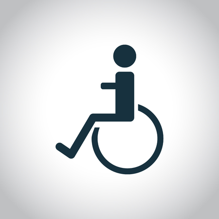 handicap: Disabled handicap icon on a white background