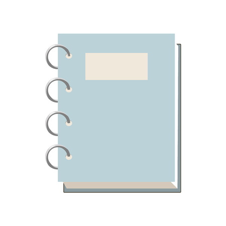 is closed: Closed spiral notebook icon in cartoon style on a white background
