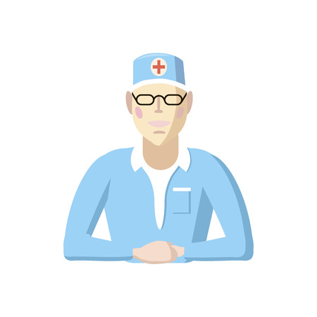 doctor icon: Doctor icon in cartoon style on a white background