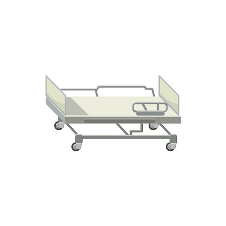 ambulatory: Mobile medical bed icon in cartoon style on a white background